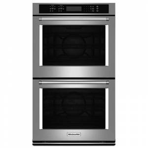 KitchenAid KODE507E 27 Inch Wide 8.6 Cu. Ft. Electric Double Wall Oven with Even-Heat True Convection Upper and Lower Oven Stainless Steel Ovens  - Stainless Steel