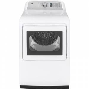 GE GTD75ECL 27 Inch Wide 7.4 Cu. Ft. Energy Star Rated Electric Dryer with Sensor Dry White Laundry Appliances Dryers Electric Dryers  - White