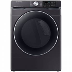 Samsung DVG45R6300 27 Inch Wide 7.5 Cu Ft. Energy Star Rated Gas Dryer with Bixby Compatibility Fingerprint Resistant Black Stainless Steel Laundry  - Fingerprint Resistant Black Stainless St