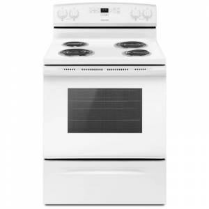 Amana ACR4303MF 30 Inch Wide 4.8 Cu. Ft. Free Standing Electric Range with Bake Assist White Ranges Free Standing Electric  - White