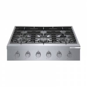 Bosch RGM86UC Hob 36 Inch Wide 6 Burner Gas Cooktop Stainless Steel Cooking Appliances Cooktops Gas Rangetops