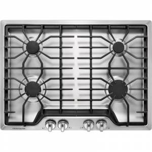 Frigidaire FFGC3026S 30 Inch Wide Built In Natural Gas Cooktop with Ready Select Controls Stainless Steel Cooktops Cooktop Gas