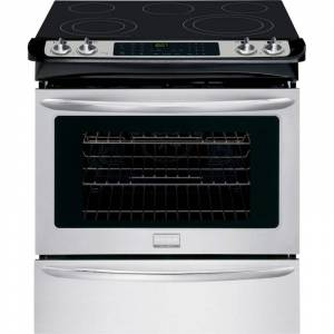 Frigidaire FGES3065P 30 Inch Slide-In Range with 4.6 Cubic Foot Oven Stainless Steel Ranges Slide In Electric  - Stainless Steel