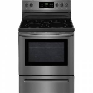Frigidaire FFEF3054T 30 Inch Wide 5.3 Cu. Ft. Free Standing Electric Range with SpaceWise Expandable Elements and Quick Boil Setting Black Stainless
