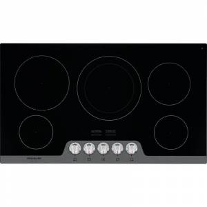 Frigidaire FGEC3648U Gallery 36 Inch Wide 5 Burner Electric Cooktop Stainless Steel Cooktops Cooktop Electric