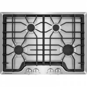 """Frigidaire FGGC3045QS 30"""" Gas Cooktop with Quick Boil and Express-Select Controls from the Gallery Collection Stainless Steel Cooktops Cooktop Gas"""