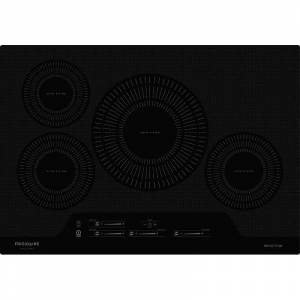 Frigidaire FGIC3066T 30 Inch Wide Built-In Electric Induction Cooktop with Auto Sizing Pan Detection and True Temp Melt & Hold Black Cooktops Cooktop