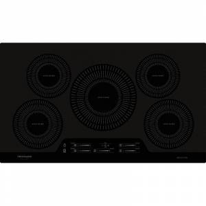 Frigidaire FGIC3666T 36 Inch Wide Built-In Electric Cooktop with True Temp Melt & Hold and Auto Sizing Pan Detection Black Cooktops Cooktop Induction