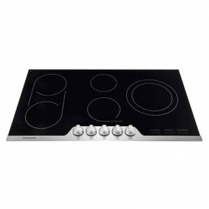 Frigidaire FPEC3677R 36 Inch Wide Built-In Electric Cooktop with SpacePro Bridge Element Stainless Steel Cooktops Cooktop Electric