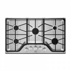 Maytag MGC7536D 36 Inch Wide Built-In Gas Cooktop with 15000 BTU Power Burner Stainless Steel Cooktops Cooktop Gas