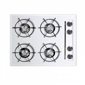 Summit NL033 24 Inch Wide 4 Burner Gas Cooktop White Cooktops Cooktop Gas  - White