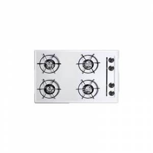 Summit WNL053 30 Four-Burner Gas Cooktop in White White Cooktops Cooktop Gas  - White