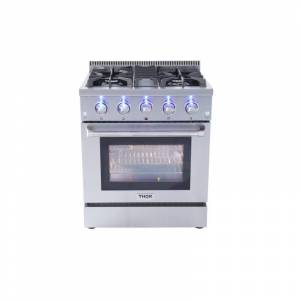Thor Kitchen HRG3080U 30 Inch Wide 4.2 Cu. Ft. Capacity Freestanding Gas Range with Automatic Re-Ignition System Stainless Steel Ranges Free Standing  - Stainless Steel