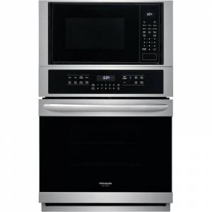Frigidaire FGMC2766U Gallery 27 Inch Wide 5.4 Cu. Ft. Single Electric Oven with 1100 Watt Microwave Stainless Steel Cooking Appliances Wall Ovens