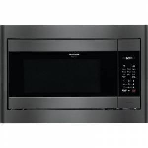Frigidaire FGMO226NU Gallery 25 Inch Wide 2.2 Cu. Ft. 1200 Watt Built-In Microwave Black Stainless Steel Cooking Appliances Microwave Ovens Built In