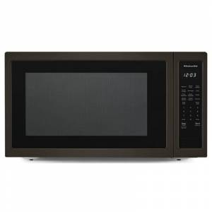KitchenAid KMCS3022G 24 Inch Wide 2.2 Cu. Ft. 1200 Watt Countertop Microwave Black Stainless Cooking Appliances Microwave Ovens Countertop Microwaves