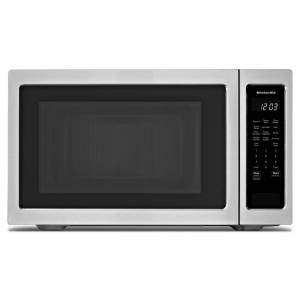 KitchenAid KMCS3022G 24 Inch Wide 2.2 Cu. Ft. 1200 Watt Countertop Microwave Stainless Steel Cooking Appliances Microwave Ovens Countertop Microwaves