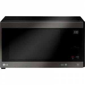LG LMC1575 21 Inch Wide 1.5 Cu. Ft. 1250 Watt Countertop Microwave with Glass Touch Controls Black Stainless Steel Cooking Appliances Microwave Ovens