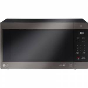 LG LMC2075 24 Inch Wide 2.0 Cu. Ft. 1200 Watt Countertop Microwave with Smart Inverter Black Stainless Steel Cooking Appliances Microwave Ovens
