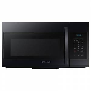 Samsung ME17R7021E 30 Inch Wide 1.7 Cu. Ft. 1000 Watt Over the Range Microwave Black Cooking Appliances Microwave Ovens Over the Range Microwaves