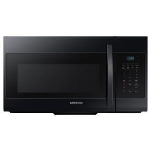 Samsung ME17R7021E 30 Inch Wide 1.7 Cu. Ft. 1000 Watt Over the Range Microwave Black Cooking Appliances Microwave Ovens Over the Range Microwaves