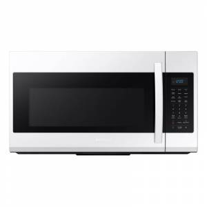 Samsung ME19R7041 30 Inch Wide 1.9 Cu. Ft. 1000 Watt Over the Range Microwave with Sensor Cook White Cooking Appliances Microwave Ovens Over the Range