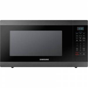 Samsung MS19M8000A 24 Inch Wide 1.9 cu. ft. 950 Watt Free Standing Microwave with Sensor Cook Black Stainless Steel Cooking Appliances Microwave Ovens