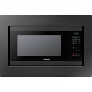 Samsung MS19M8020T Built-In 1.9 Cubic Foot Microwave Black Stainless Steel Cooking Appliances Microwave Ovens Built In Microwaves