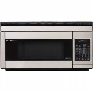 Sharp R1874T 30 Inch Wide 1.1 Cu. Ft. Over-the-Range Microwave with Convection Cooking Stainless Steel Cooking Appliances Microwave Ovens Over the
