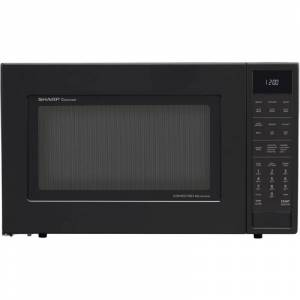 Sharp SMC1585 25 Inch Wide 1.5 Cu. Ft. Countertop Microwave with Convection Cooking and Ceramic Turn Table Black Cooking Appliances Microwave Ovens