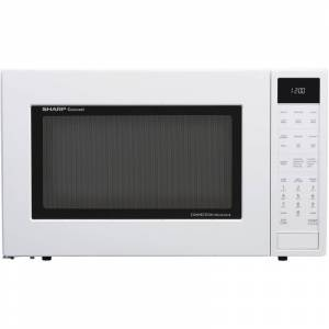 Sharp SMC1585 25 Inch Wide 1.5 Cu. Ft. Countertop Microwave with Convection Cooking and Ceramic Turn Table White Cooking Appliances Microwave Ovens