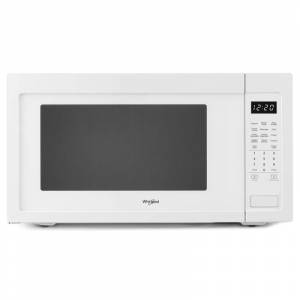 Whirlpool WMC50522H 24 Inch Wide 2.2 Cu. Ft. 1200 Watt Countertop Microwave White Cooking Appliances Microwave Ovens Countertop Microwaves