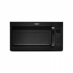 Whirlpool WMH32519H 30 Inch Wide 1.9 Cu. Ft. 1000 Watt 300 CFM Over the Range Microwave with Sensor Cook Black Cooking Appliances Microwave Ovens Over