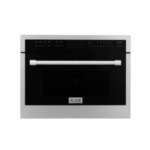 Zline MWO-24 24 Inch Wide 1.6 Cu. Ft. 1000 Watt Built-In Microwave with LCD Touch Panel Stainless Steel Cooking Appliances Microwave Ovens Built In