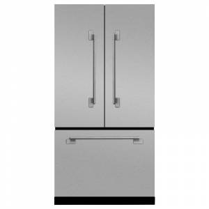 AGA MELFDR23 Elise Series 36 Inch Wide 22.1 Cu. Ft. French Door Refrigerator with Adjustable Glass Shelves Stainless Steel Refrigeration Appliances  - Stainless Steel