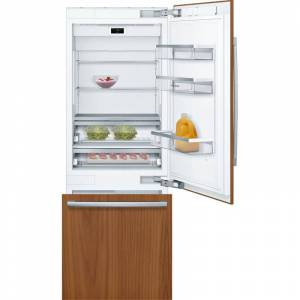 """Bosch B30IB900SP Benchmark 30"""" Wide 16 Cu. Ft. Energy Star Rated Built-In Refrigerator with Bottom Freezer Panel Ready Refrigeration Appliances Full"""