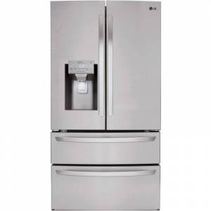 LG LMXS28626 36 Inch Wide 28 Cu. Ft. Energy Star Rated Refrigerator with SmartThinQ Technology Stainless Steel Refrigeration Appliances Full Size
