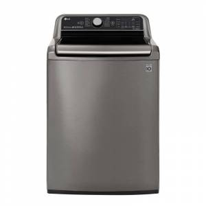 LG WT7800C 27 Inch Wide 5.5 Cu Ft. Energy Star Rated Top Loading Washer with 12 Wash Programs Graphite Steel Laundry Appliances Washing Machines Top