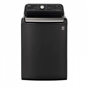 LG WT7900H 27 Inch Wide 5.5 Cu Ft. Energy Star Rated Top Loading Washer with 14 Wash Programs Black Steel Laundry Appliances Washing Machines Top