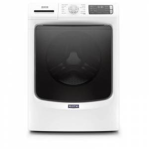 Maytag MHW6630H 27 Inch Wide 4.8 Cu Ft. Energy Star Rated Electric Front Loading Washer with Fresh Hold® Option White Laundry Appliances Washing