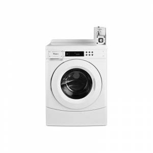 Whirlpool CHW9150G 27 Inch Wide 3.1 Cu. Ft. Capacity Energy Star Certified Electric Commercial Washer with Coin Operation White Commercial Laundry