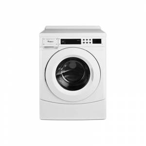 Whirlpool CHW9160G 27 Inch Wide 3.1 Cu. Ft. Capacity Energy Star Certified Electric Commercial Washer White Commercial Laundry Vended Washers Front
