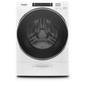 Whirlpool WFW8620H 27 Inch Wide 5 Cu Ft. Electric Front Loading Washer White Laundry Appliances Washing Machines Front Loading Washing Machines