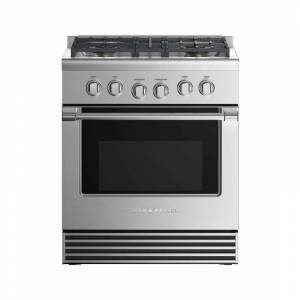 Fisher and Paykel RGV2-304L N 30 Inch Wide 4.6 Cu. Ft. Free Standing Liquid Propane Gas Range with 4 Sealed Burners Stainless Steel Ranges Free