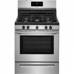 Frigidaire FFGF3054T 30 Inch Wide 5 Cu. Ft. Free Standing Gas Range with Quick Boil Setting and Low Simmer Burner Stainless Steel Ranges Free Standing  - Stainless Steel
