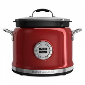 KitchenAid KMC4241 4 Qt. Multi Cooker with 12-Hour Programming Red / Candy Apple Small Appliances Slow Cooker