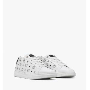 MCM Men's Terrain Lo Sneakers In Visetos  - White - Size: 044