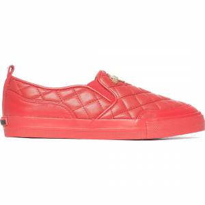 Moschino Quilted Slip On - Red