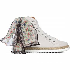 Moschino Espadrille Floral Bootie - White