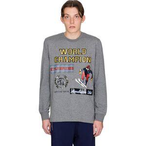 Moschino World Champion Long Sleeve T-Shirt - Grey